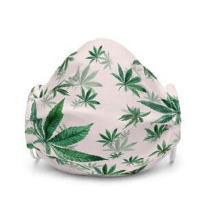 Pink Cannabis Print Face Mask