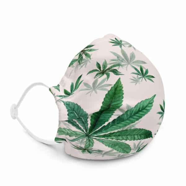 Pink Cannabis Print Face Mask